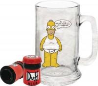 Simpsons Bierglas mit Flaschenöffner